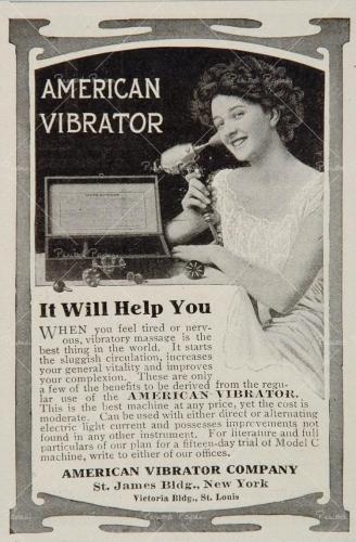 american vibrator, godemichet, sextoy,féminisme,Mortimer Granville