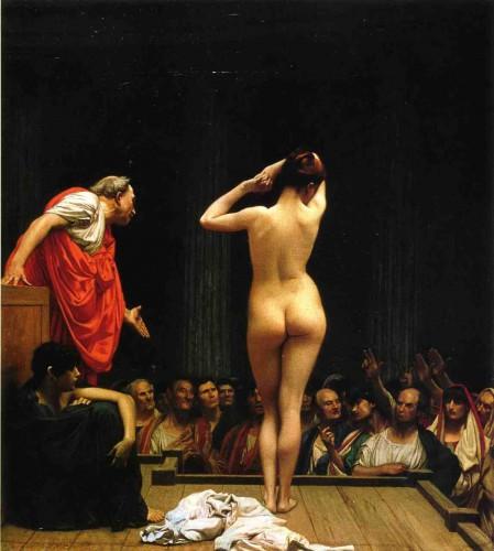 Gérome vente d'esclaves à Rome 1886