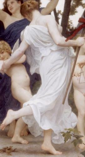 La jeunesse de bacchus,Youth of Bacchus, Dionysos,Bouguereau