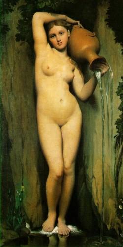 la source,ingres,théodore de banville,néoclassicisme,parnasse,peinture,poésie
